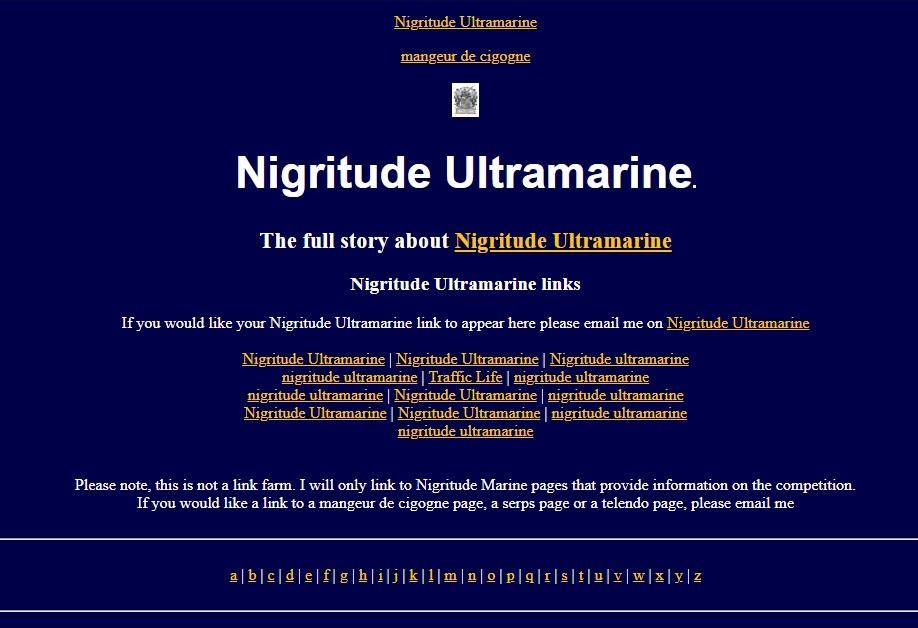 Nigritude Ultramarine Screen Shot from June 2004