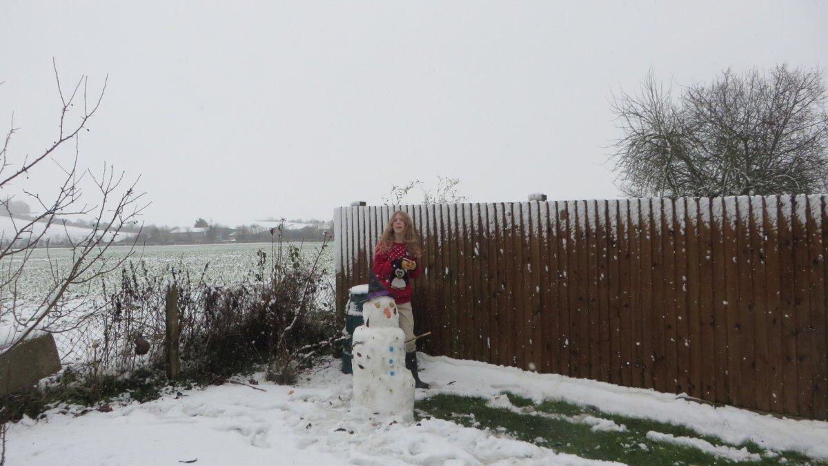 Snow at Honington, South Warwickshire