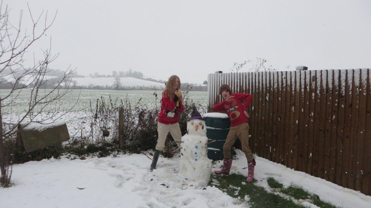 Snow at Honington