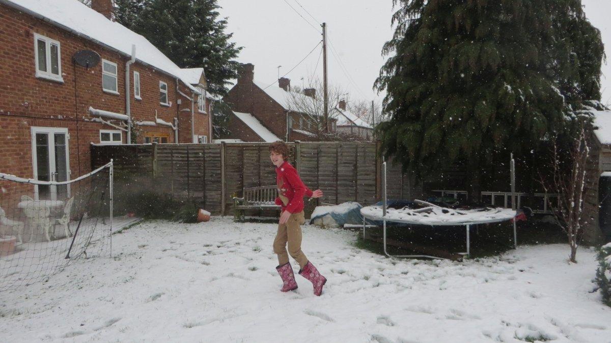Snow at Honington, Shipston-on-Stour, Warwickshire