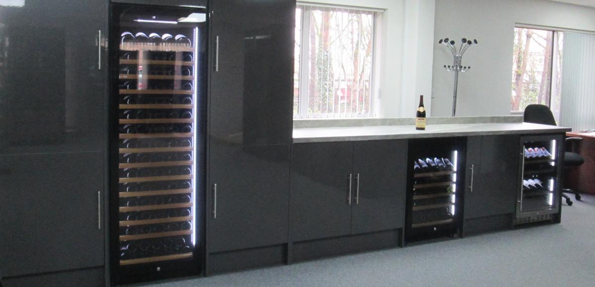 wine cooler kitchen